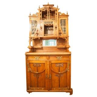 Antique 19th-C. French Art Nouveau Cabinet
