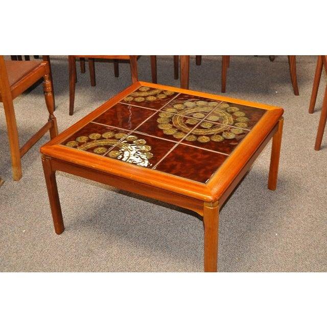 Image of Teak & Tile Coffee Table C.1970