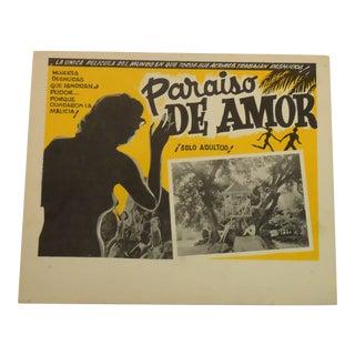 Vintage Spanish Movie Poster, Paradise of Love