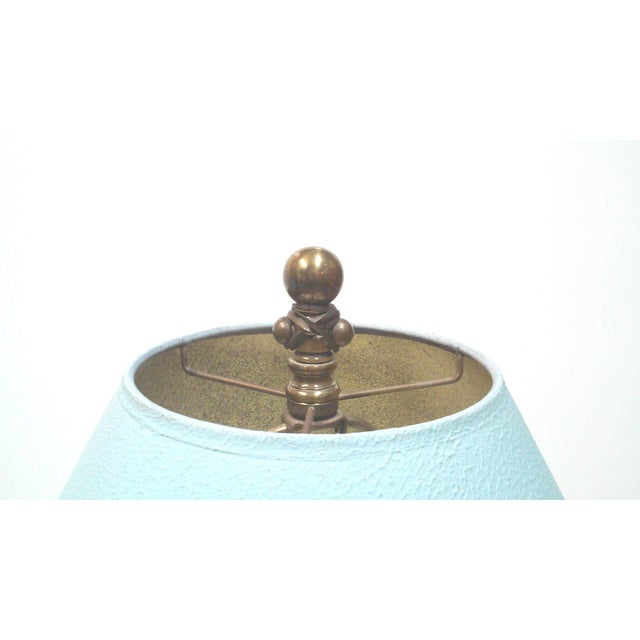 Blue Iron and Brass Table Lamps - A Pair - Image 4 of 7