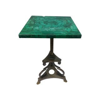 Malachite & Steel Side Table