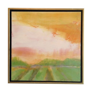 Sunset With Oaks & Field Original Painting