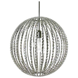 Helena Allard Globe Nickel Octagon Chandelier