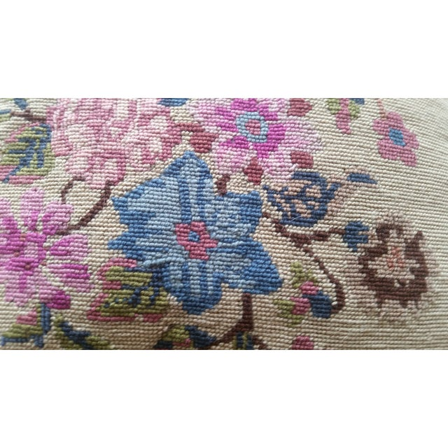 Vintage Needlepoint Pillow - Image 3 of 6