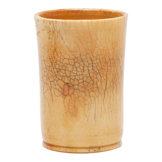 Antique Glazed Ox Bone Cup