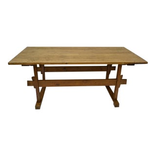 Pine Trestle Base Work Table