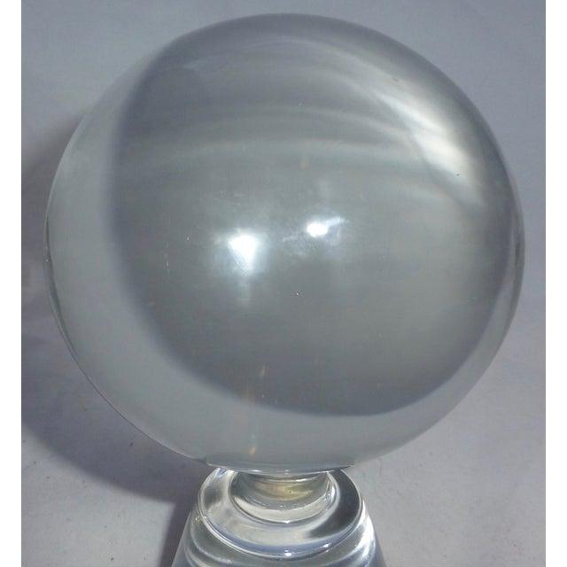 Mid-Century Modern Murano Glass Crystal Ball - Image 4 of 7