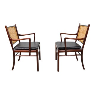 Pair of Colonial Armchairs by Ole Wanscher for P. Jeppesens
