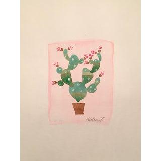 """""""Pink Cactus"""", Original Watercolor"""