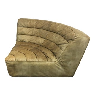 Restoration Hardware Chelsea Leather Round Corner Chair