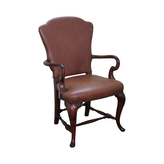 Lillian August 18th Century Leather Arm Chair - Image 1 of 10