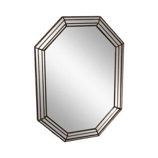 Hollywood Regency Silver Gilt Octagonal Wall Mirror