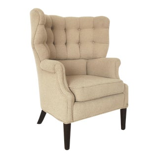 Mid-Century High Back Tufted Club Chair