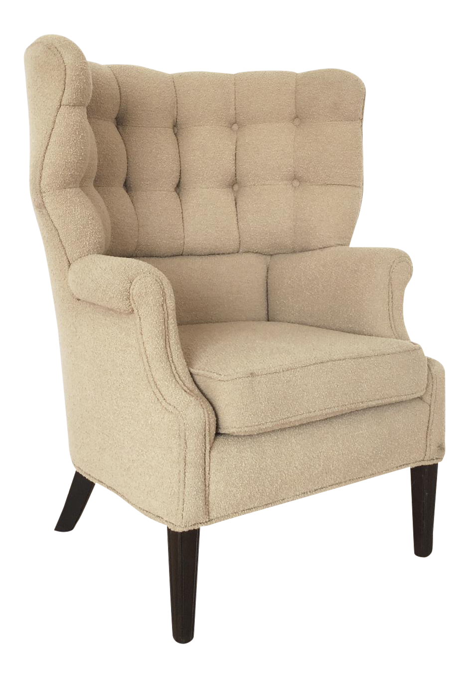 Mid Century High Back Tufted Club Chair   Image 1 Of 11