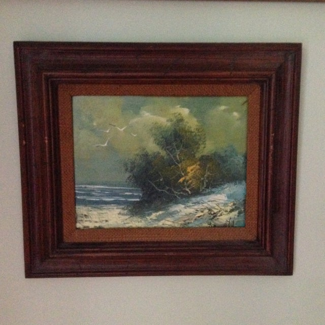 Vintage Oil on Board Seascape Painting - Image 3 of 11