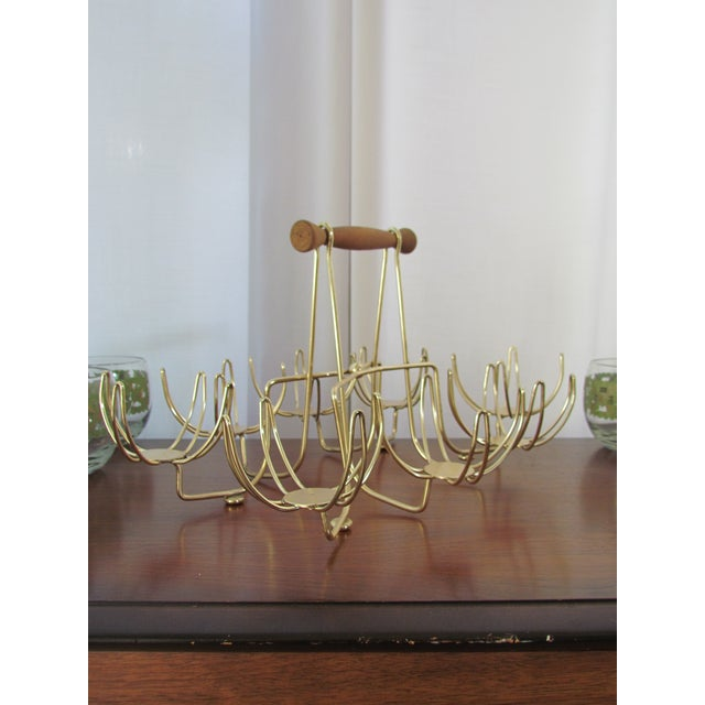 Image of Mid Century Modern Roly Poly Barware Caddy - Set/8