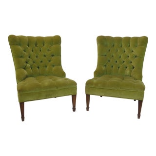 Button Tufted Accent Chairs - a Pair