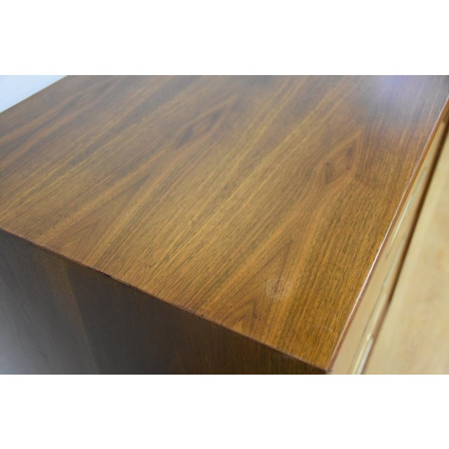 Image of Cavalier Walnut & Brass Dresser