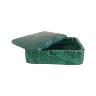 Lidded Malachite Box
