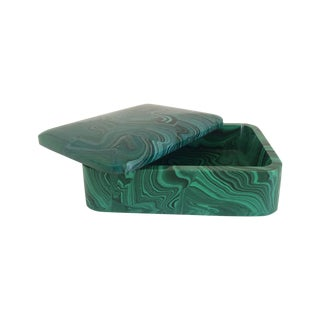 Lidded Malachite Box