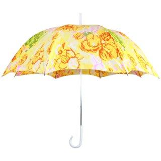 Vintage Floral Italian Handle Umbrella