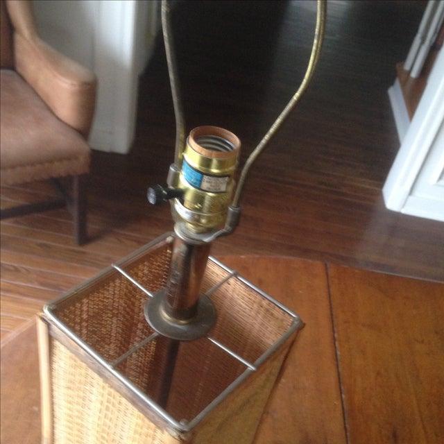 Vintage Rattan Table Lamp - Image 7 of 11