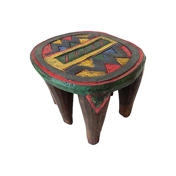 African Nupe Low Milk Stool - Image 3 of 6