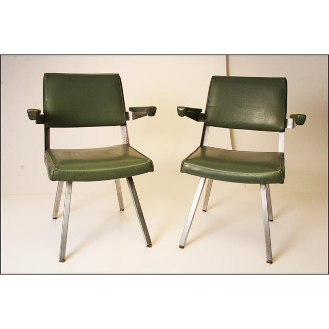 Harter Mid-Century Modern Industrial Office Chairs- A Pair | Chairish