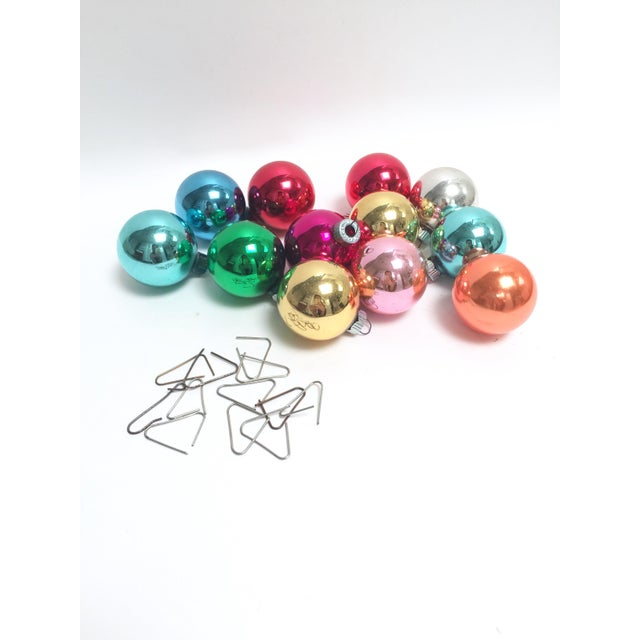 Image of Vintage Shiny Brite Glass Ornaments