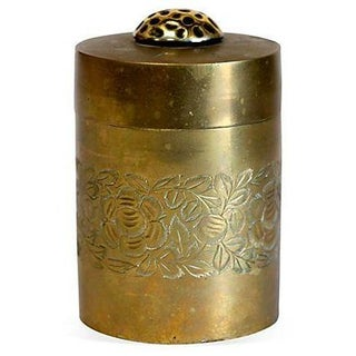 Etched Antique Brass Canister
