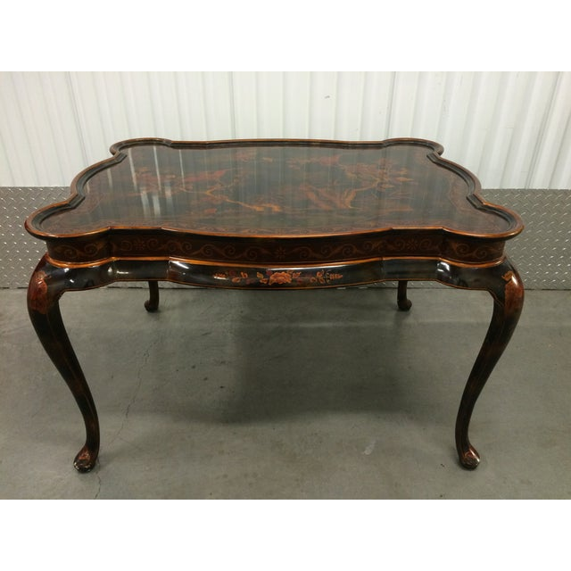 Maitland-Smith Hand-Painted Inlay Coffee Table - Image 7 of 10