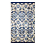 "Image of New Blue Suzani Hand-Knotted Rug - 5'6"" X 9'4"""