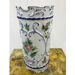 Image of Hand Painted Ceramic Umbrella Stand or Tall Vase
