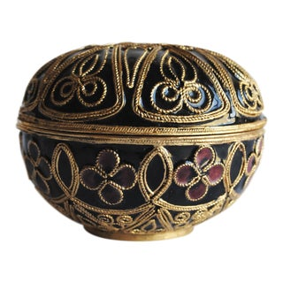 Vintage Round Filigree Box
