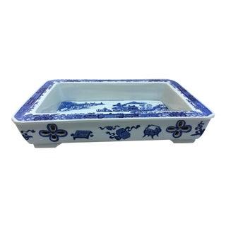 Chinese Blue & White Bulb Dish