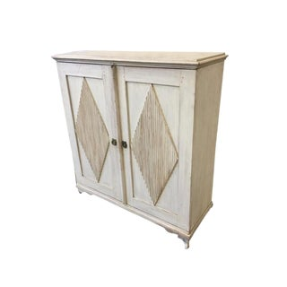 Swedish Antique Two Door Cabinet Gustavian Cabinet