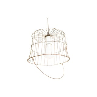 Vintage Egg Basket Pendant Light - Small