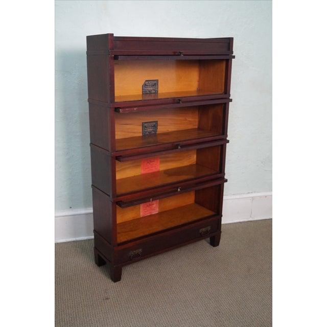 Image of Globe Wernicke Antique Mission Mahogany Bookcase