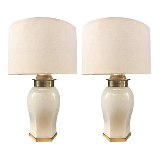 Chapman Ceramic and Brass Lamps
