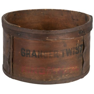 Antique Wood Granger Round Tobacco Box