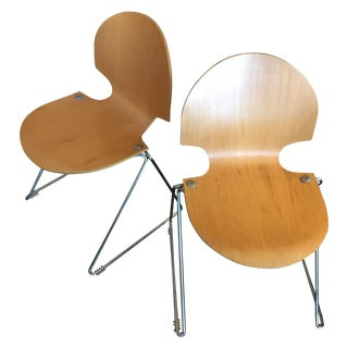 Marked Fritz Hansen Bentwood Chairs - A Pair