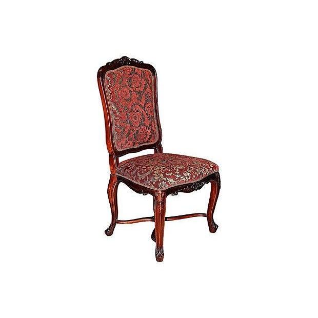 Louis XV-Style Mahogany Side Chairs - Set of 6 - Image 3 of 7