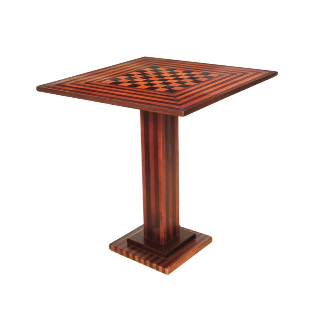 Checkered Tilt Top Table - Image 2 of 7