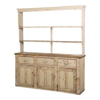 Antique English Welsh Dresser, Original Painted Finish circa 1850