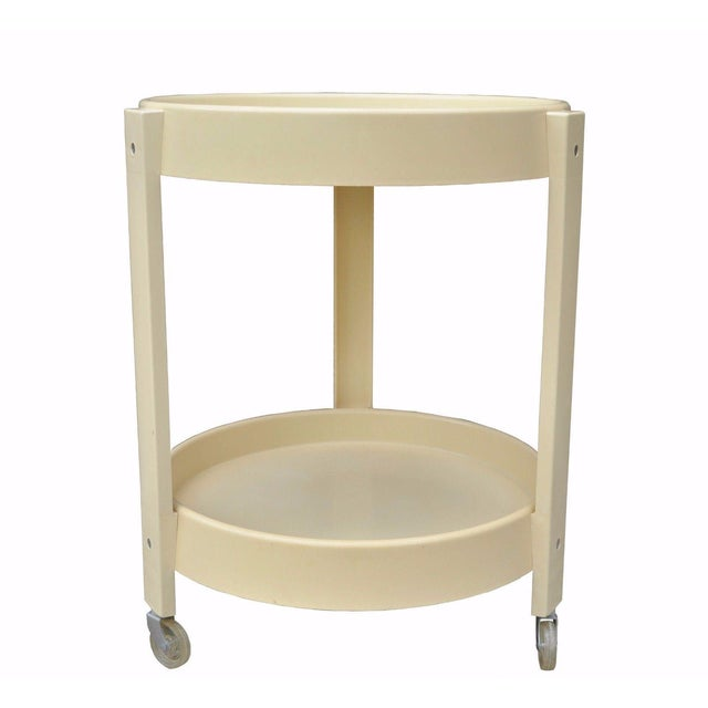 Vintage Joe Colombo Style Mid Century Modern Plastic Round Bar Tea Cart - Image 11 of 11