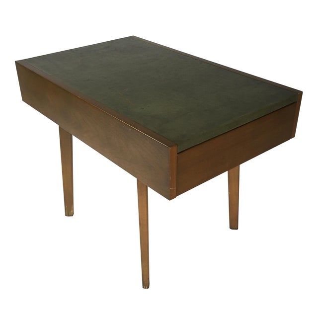 George Nelson Herman Miller Leather Top Side Table - Image 1 of 7