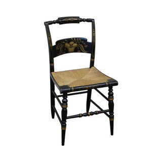Hitchcock Black Stenciled Rush Seat Chair