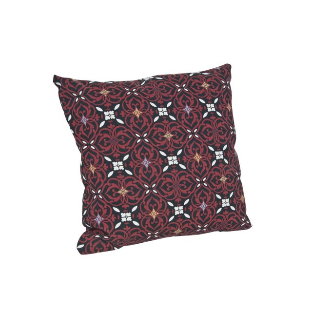 Red Outdoor Throw Pillow - Image 1 of 3