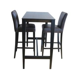 Crate & Barrel Lowe Bar Chairs & Triad Table