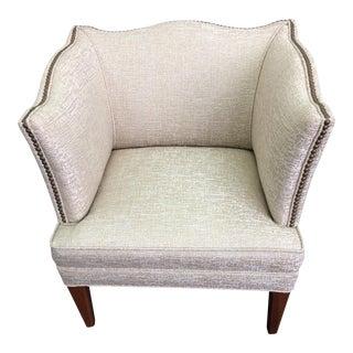 Curvy Square Shaped Vintage Club Chair